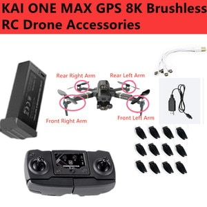 KAI ONE MAX GPS Smart Follow 8K 3-Axis Gimbal WIFI FPV RC Drone Parts 7.4V 2200mAh Battery/Arm/Propeller/Charger/ Remote Control