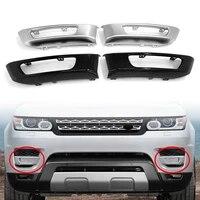 2x car front bumper fog light lamp cover decorative trim for land rover range rover sport 2014 2015 2016 2017 l494 blacksilver