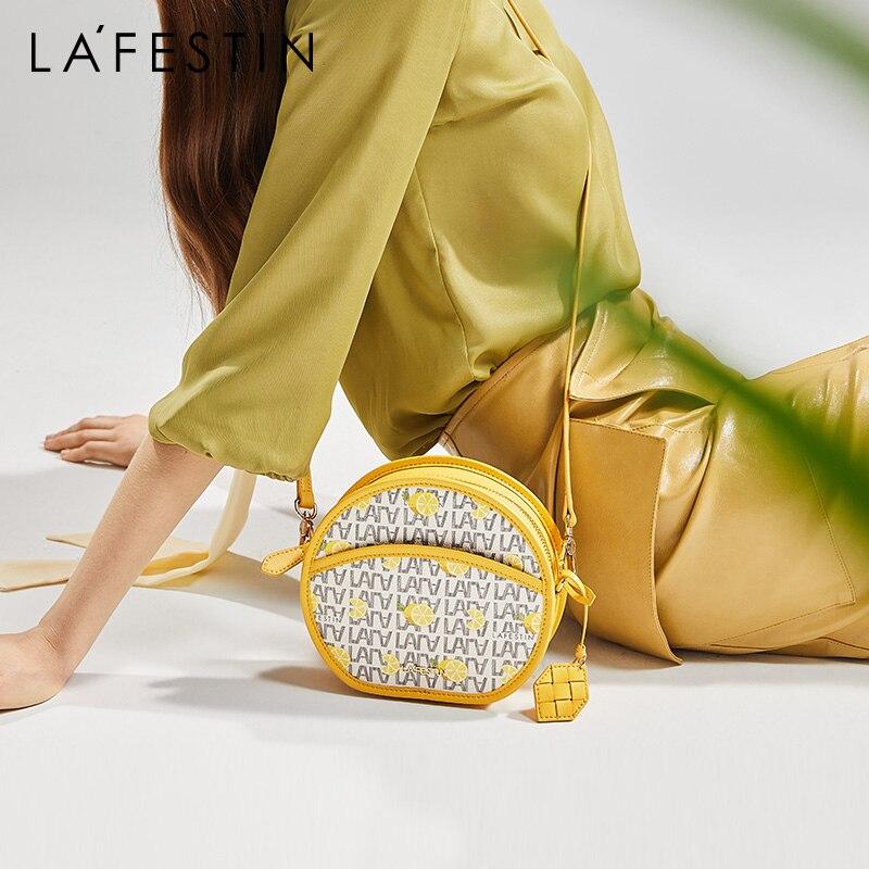 LA FESTIN Original 2021 New Underarm Bag Fashion Round Bag Summer Lemon Shoulder Messenger Small Bag