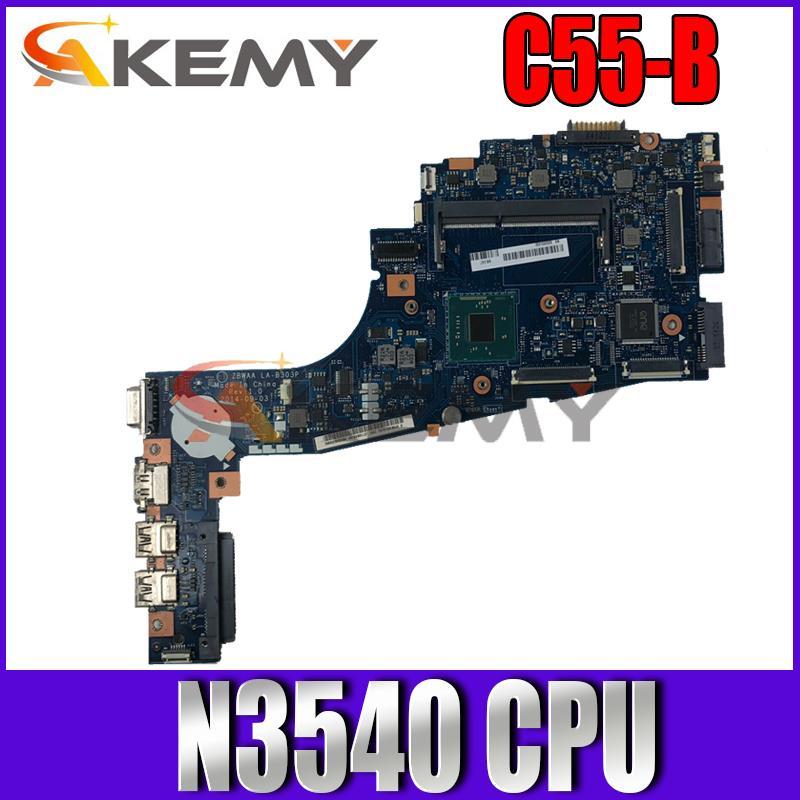 اللوحة LA-B303P لتوشيبا C55-B5202 C55 C50 C50-B C55-B N3540 CPU SR1YW 100% اختبار العامل