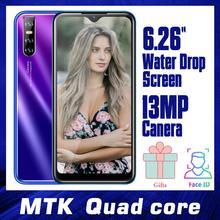 """9T Pro Android Smartphones 6.26 """"WaterDrop écran visage ID débloqué Celulares 4 grammes + 64GROM Quad Core téléphone 13MP MTK téléphone portable"""