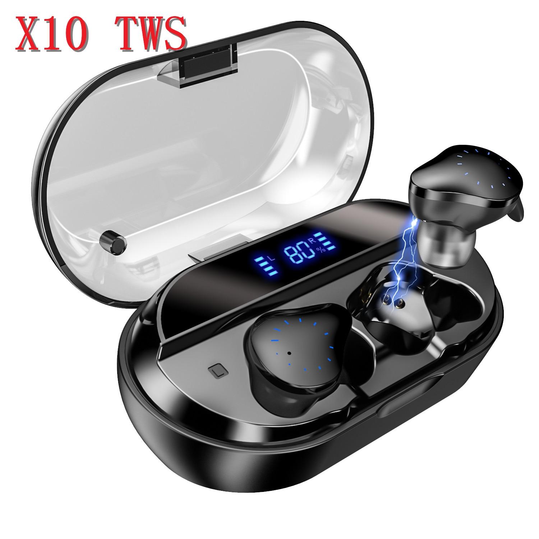 TWS True Wireless earbuds Sport 5.0 Bluetooth Earphones IPX7 Waterproof with mic 4000mAh charging box Power Bank for huawei