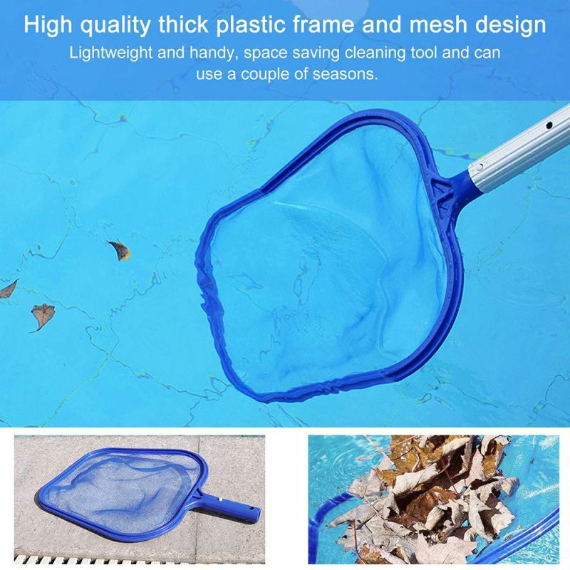 Fine Mesh Pool Net Professional Pool Skimmer Swimming Pool Leaf Net Cleaning Pool Rake Pool Cleaning Supplies