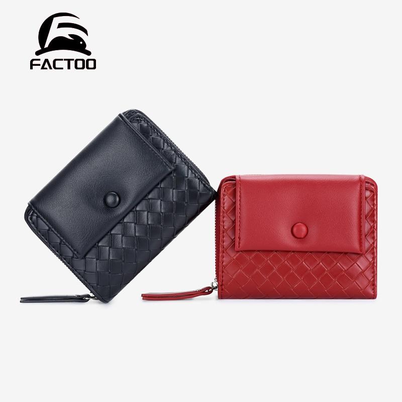 FACTOO Female Purses Mini Soft Women Wallet Lady Money Clip Bag Card Holder Hasp Zipper PU Leather F