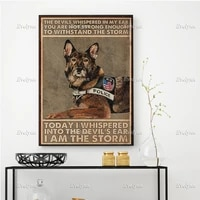 german shepherd dog poster police dog poster the devils whispered in my ear wall art prints home decor canvas floating frame