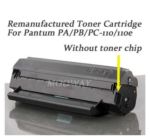 Remanufactured toner para Pantum P1000 1050 2040 2060 2080 P2000 M5000 M5100 M5200 M5250 PC-100 PC-110E PB-110 cartucho de toner