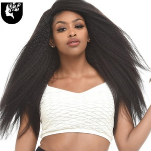 YOUR BEAUTY 22inch Yaki Straight Hair Bundles 100G Black Color Synthetic Hair Weave Ponytail Hair Extensions Free Shipping