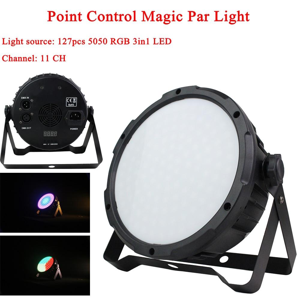 2Pcs/Lot 127 LED Point Control Magic Par Light RGB DMX512 Sound Actived Magic Effect Led Stage DJ Disco Club Party Lighting