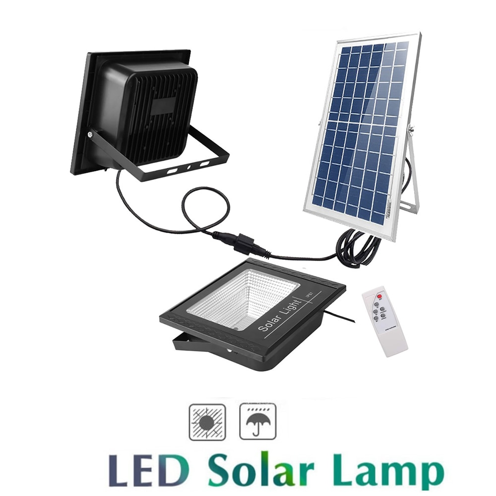 Luz LED de pared inalámbrica de energía Solar, impermeable, para exteriores, hogar, jardín, calle, patio, lámpara de seguridad, panel dividido, interior, hogar, seguridad