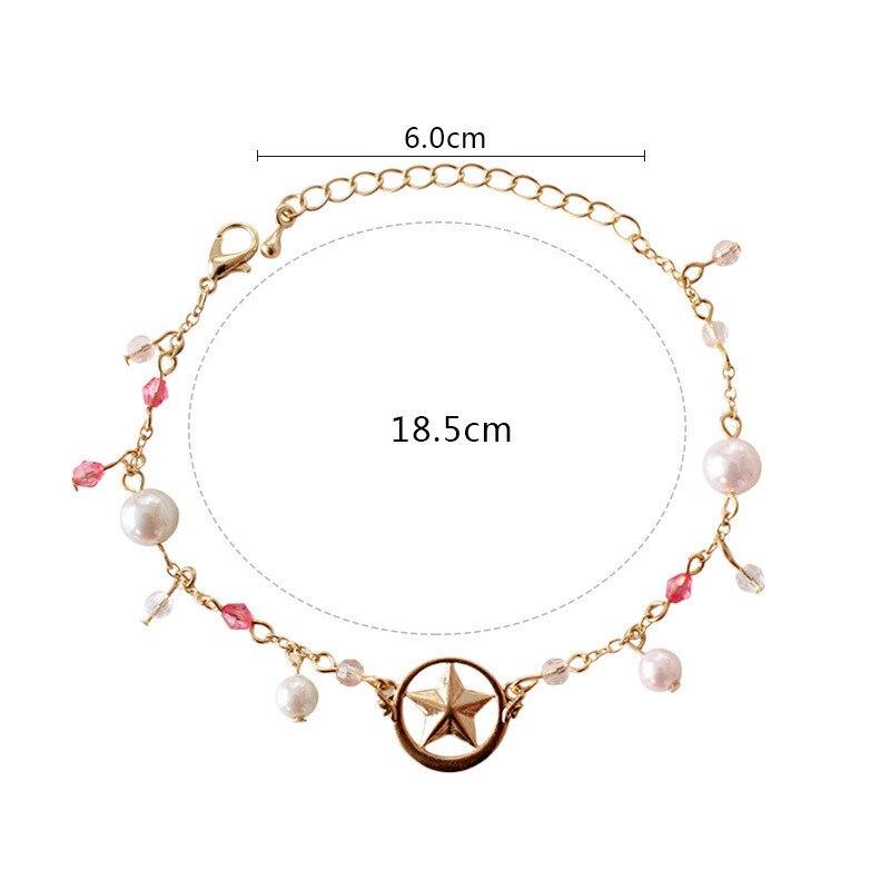 Bracelet de carte danime Sakura Kinomoto étoile Bracelet de carte Cosplay Sakura accessoires bijoux