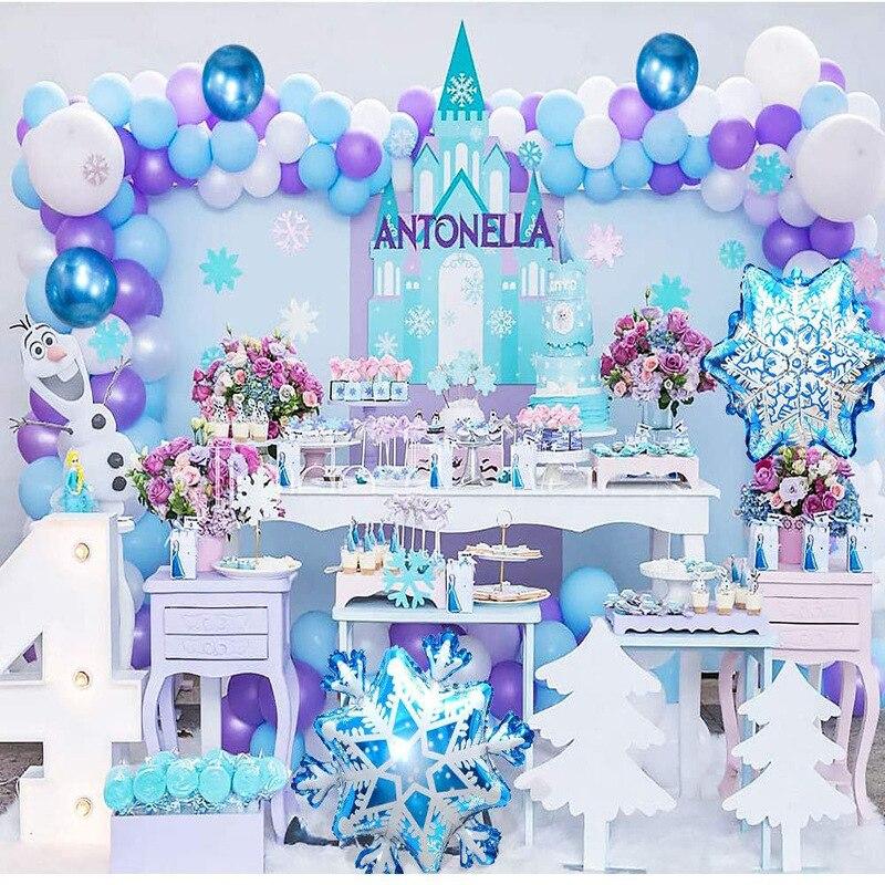 AliExpress - Disney Frozen Elsa Princess Snow Queen Theme  Birthday Party Decorations Kids Girl Party Tableware DIY Supplies Decoration