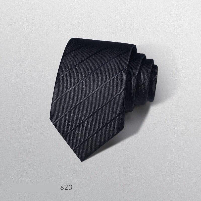 2020 Designer New Fashion 8cm Ties for Dark Blue Neckties Wedding Bridegroom Formal Suit Business Work Accessories with Gift Box