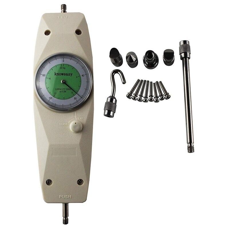 TOP!-Kraft Gauge,NK-200 Mechanische Analog Push-Pull-Spur Schub Druck Meter