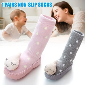 Baby Autumn And Winter Cartoon Toddler Shoes Socks Non-slip Floor Socks Toddler Floor Socks TC21