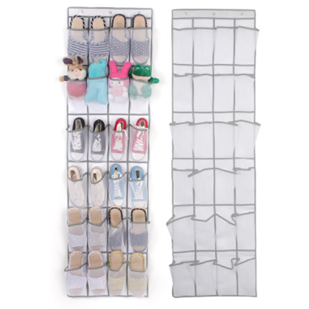 Organizador colgante para zapatos con 24 bolsillos, organizador transparente para zapatos de pared, bolsa de almacenamiento con bolsa de colgar, soporte para armario #30