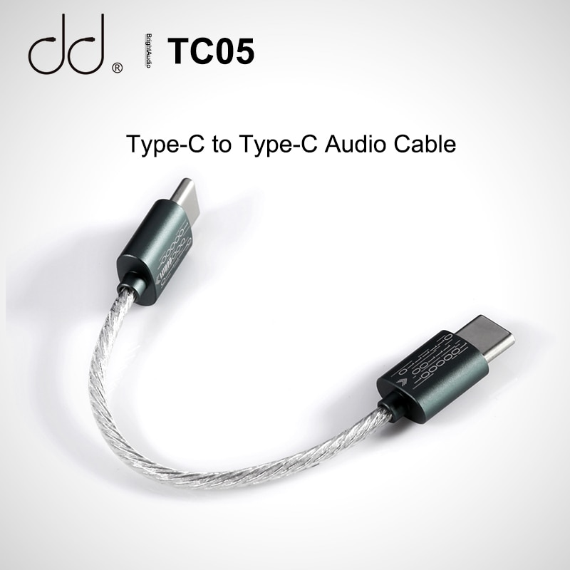 DD DDHIFI TC05 Type C to Type C Audio Data Cable for USB C Music Player Android Phone PC,TC28i Lighn