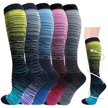 Compression Stockings Golfs Football Socks Outdoor Sports Various Pattern Bright And Rich In Color C