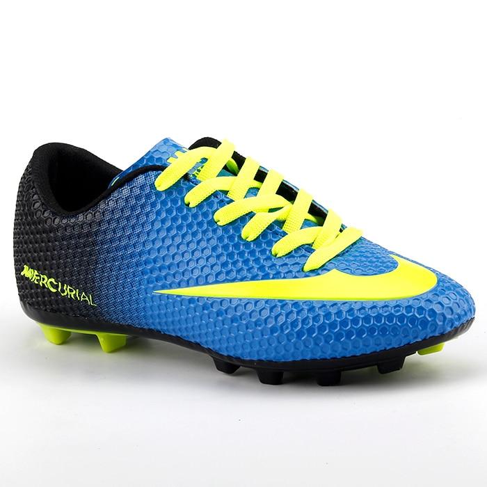 Сине-желтая спортивная мужская обувь для футбола с травой E Krampon Walk 401