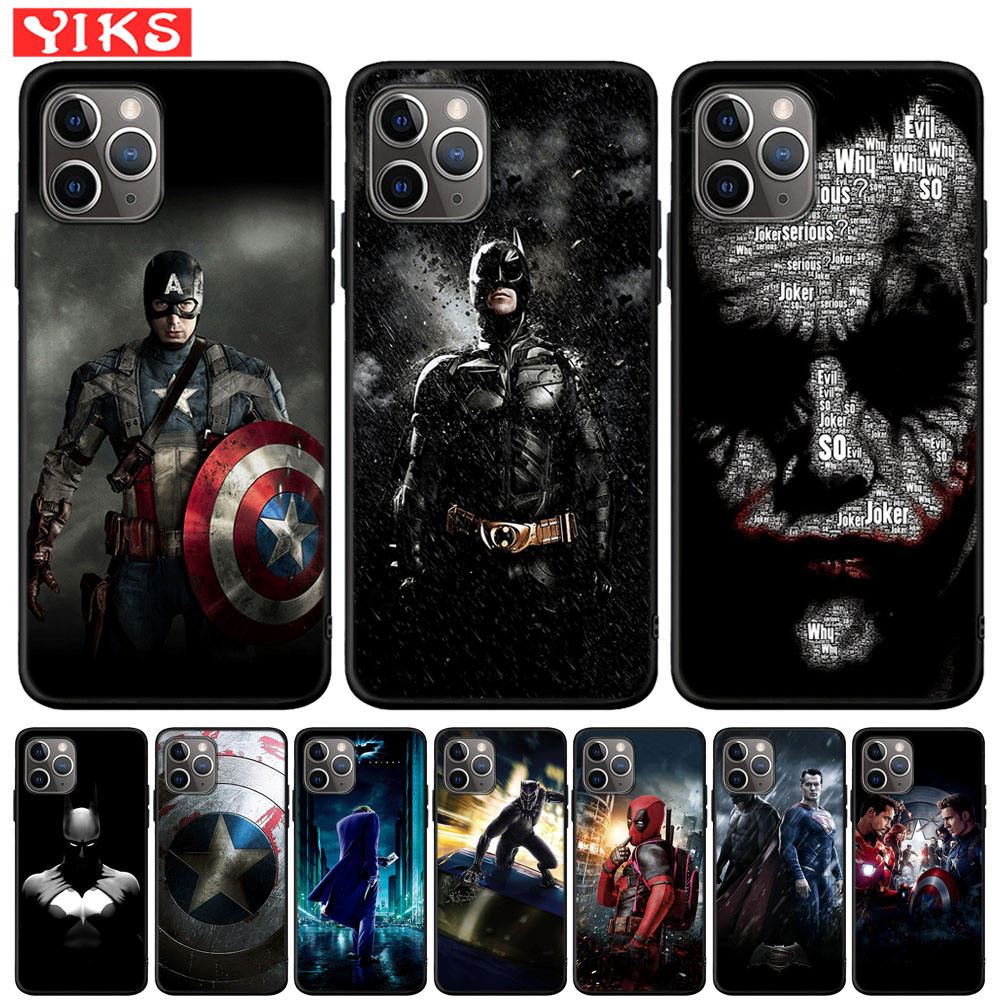 Marvel Captain America Batman The Joker Phone Case For iPhone X XR XS 11 Pro Max 8 7 6 6S Plus Cover For iPhone 5 5S SE Fundas