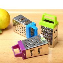 1PC Mini râpe à quatre côtés en acier inoxydable rabot multifonctionnel éplucher Cutter fruits gingembre ail râpe cuisson cuisine Gadget