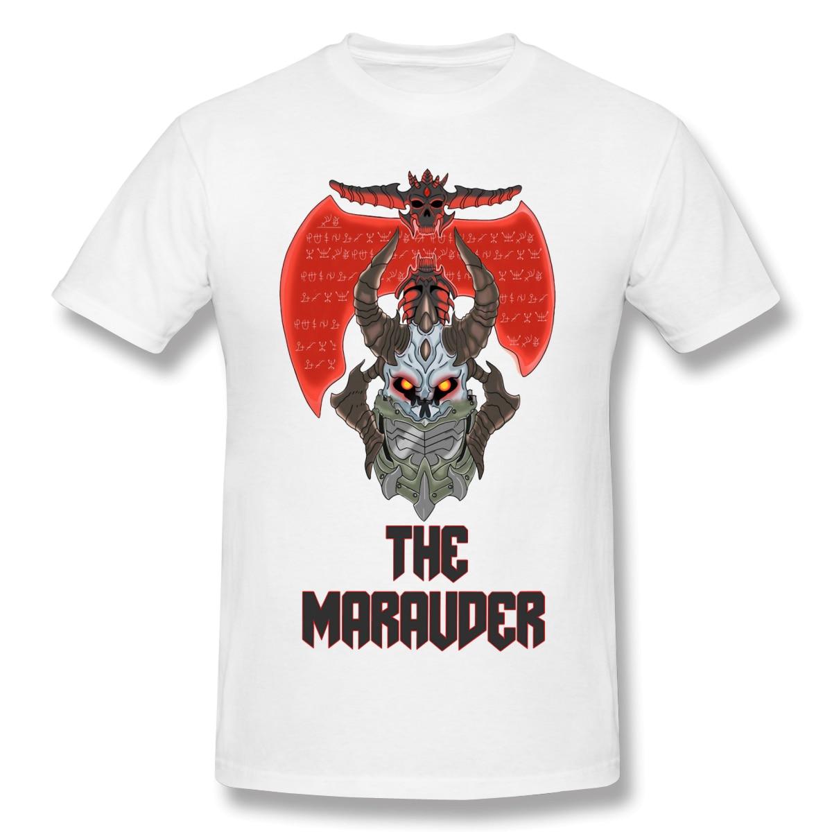 Camiseta de hombre The Marauder 100% diseño de algodón manga corta de verano doom eternal camiseta divertida suelta