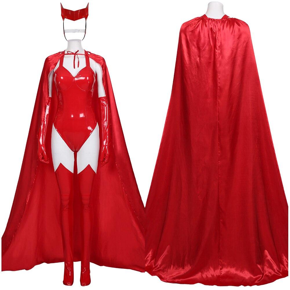 WandaVision2020 Sexy Wanda Maximoff Scarlet Hexe Uniform Cosplay Kostüm Outfit