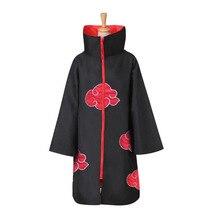 Mantello Akatsuki costumi Cosplay cappotto Anime mantello Deidara Red Cloud Robe