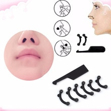 6Pcs/3 Set Beauty Nose Up Lifting Bridge Shaper Massage Tool No Pain Nose Shaping Clip Clipper Women