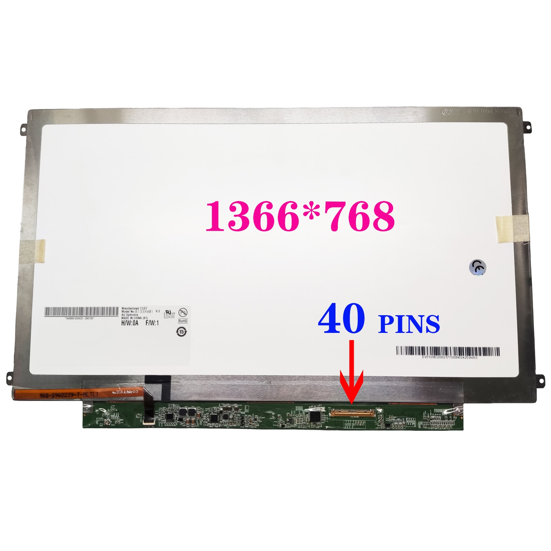 B133XW01 V2 B133XW01 V3 B133XW01 V7 B133XW03 شاشة الكريستال السائل لوحة 40 دبابيس 1366*768 شاشة مصفوفة