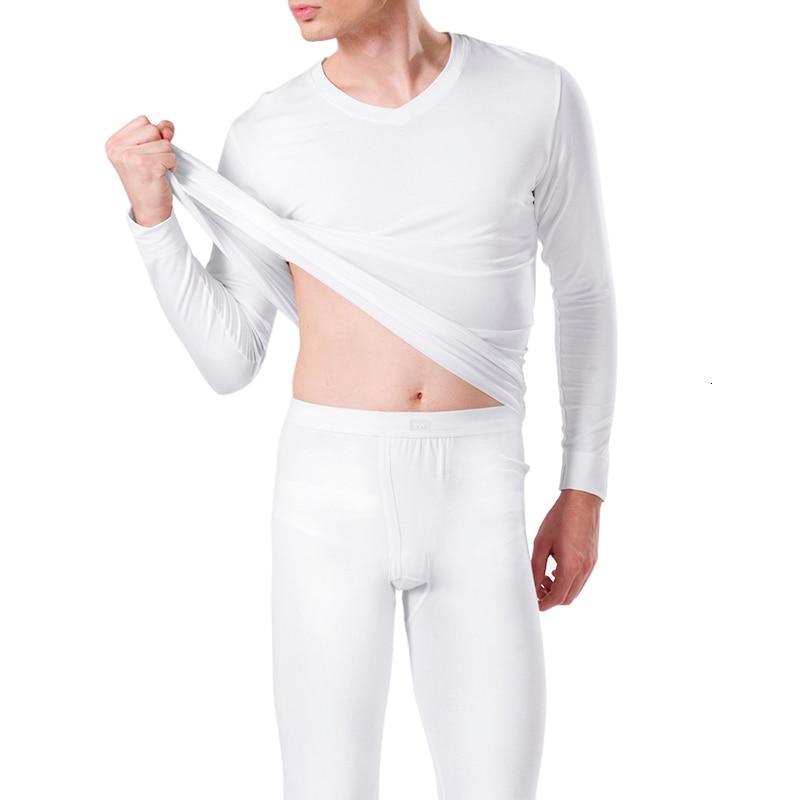 Winter Long Johns Sets Warm Thermal Underwear Mens Compression Thermal Wear Men Soft legging homme Plus Size Pajamas 5095