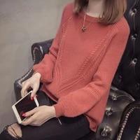 women knitted sweater spring autumn new elastic solid jumper lady knitted long sleeve o neck women warm pullovers sweaters tops