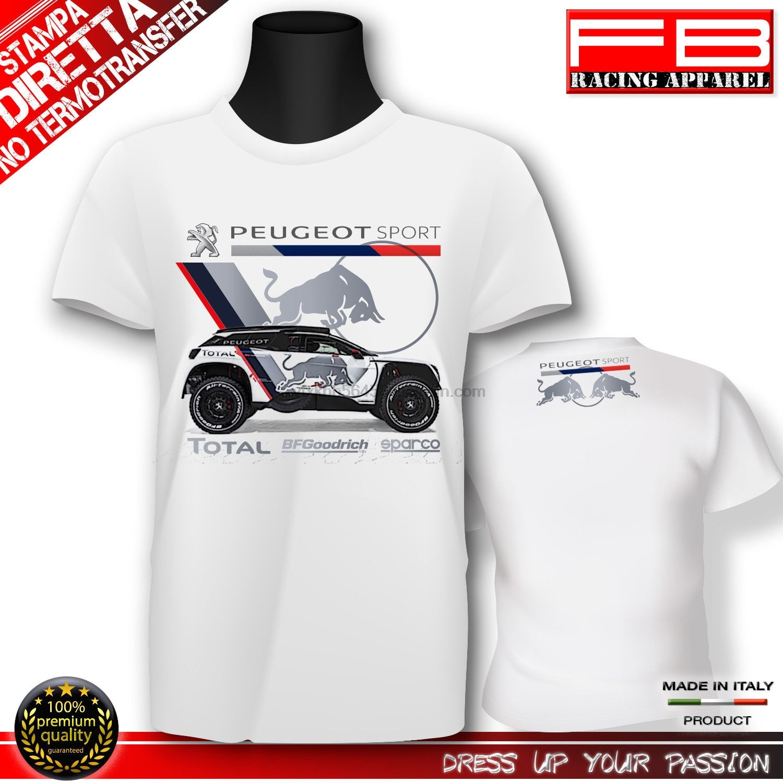 2019 nuevo verano Cool camiseta Francia coche 3008 2019 DKR PERU boliviana ARGENTINA Camiseta de algodón de coche de carrera