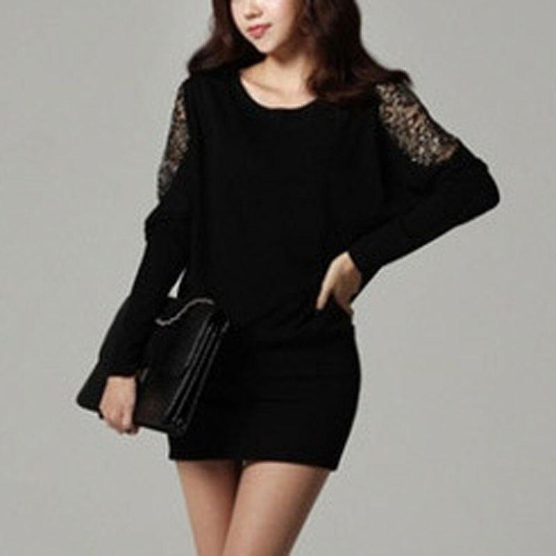 Outono vestidos femininos mais tamanhos rendas sexy vestidos de festa do vintage vestido de inverno manga longa gótico vestidos de senhora magro preto