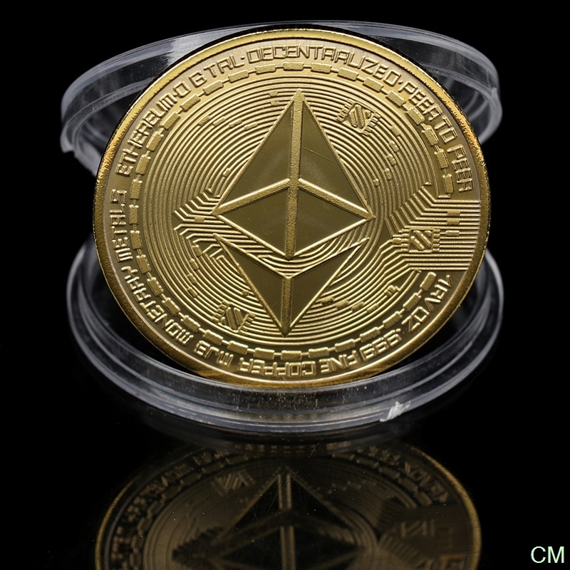 Creative Ethereum Coin Souvenir Gold Plated Collectible Great Gift Ethereum Art Collection Physical Commemorative Coin недорого
