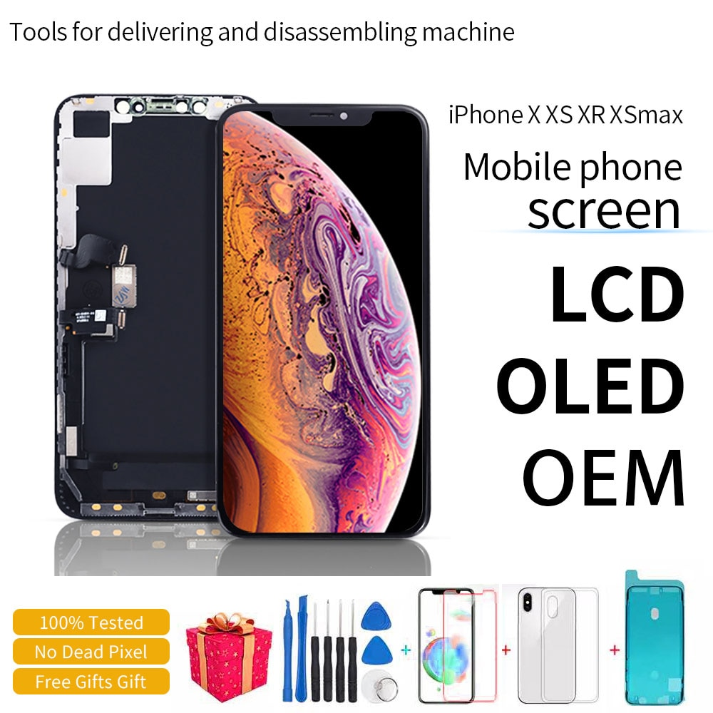 100% Tested LCD Pantalla For iphone X LCD XS XR 11 Screen LCD Display Touch Screen Digitizer Assembly For iphone X XS XSmax OLED