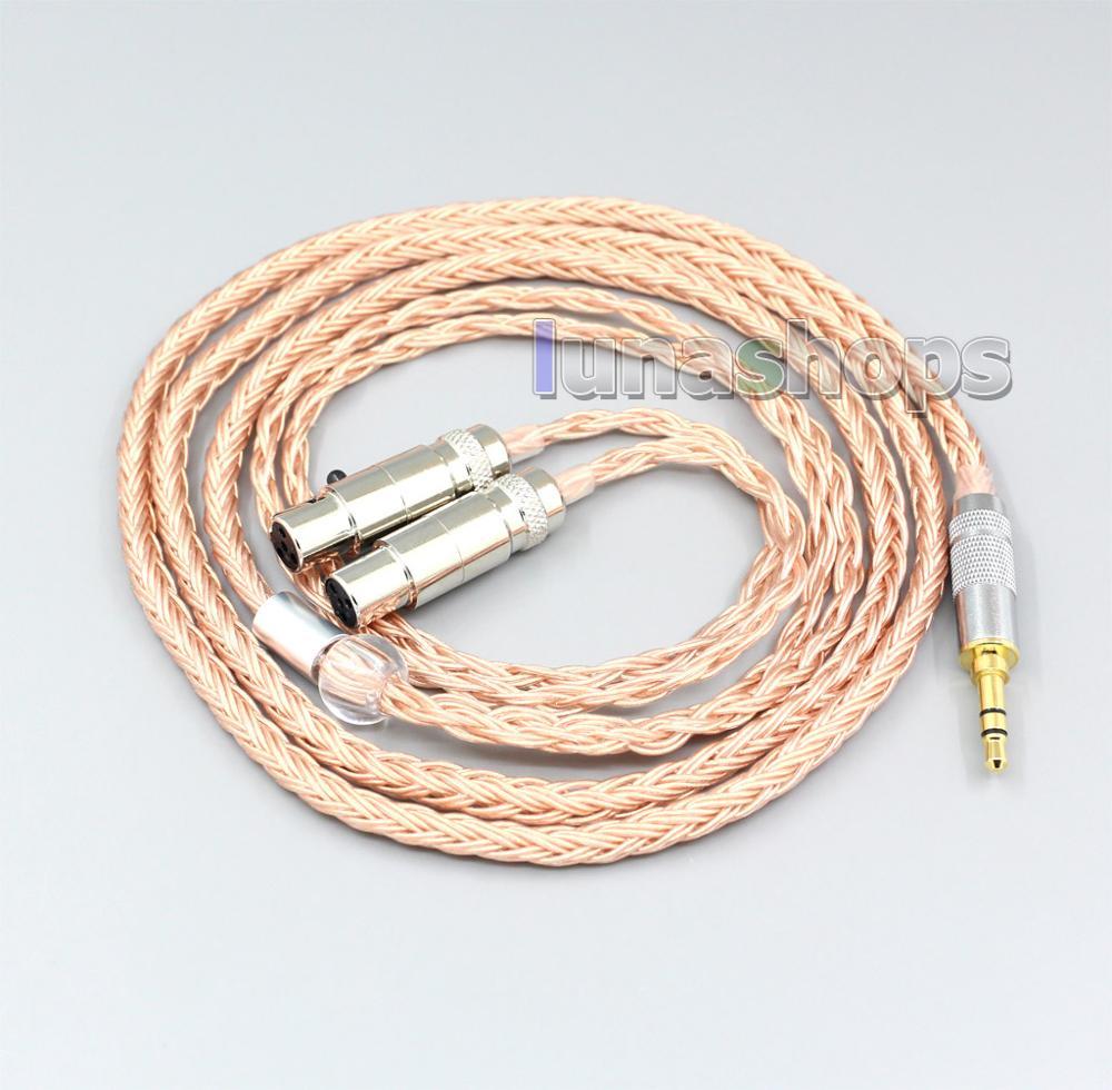 2.5mm 3.5mm XLR Balanced 16 Core 99% 7N OCC Earphone Cable For Audeze LCD-3 LCD3 LCD-2 LCD2 LCD-X LCD-XC LN006753
