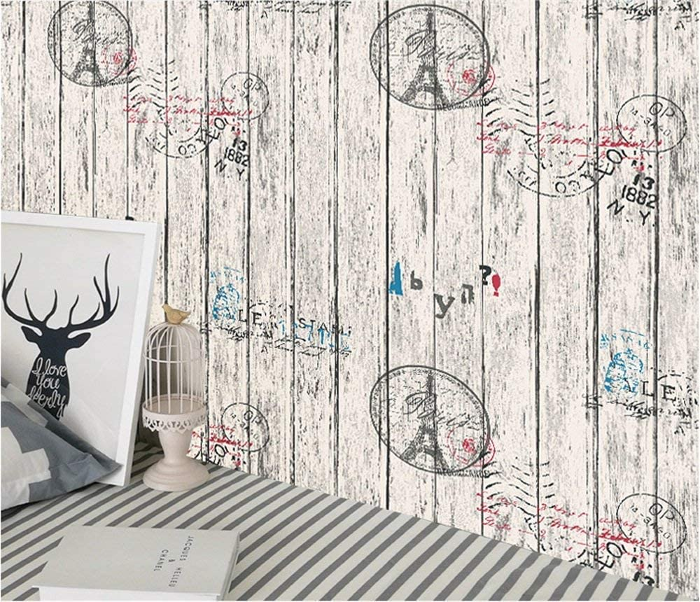HaoHome Tower Wood Grain Vintage Peel and Stick Wallpaper Wall Paper Decorative Wood Self Adhesive WalCoverings Shelf Liner Roll brown wood papers wood peel and stick wallpaper removable wood grain self adhesive vintage distressed wood grain renovated paper