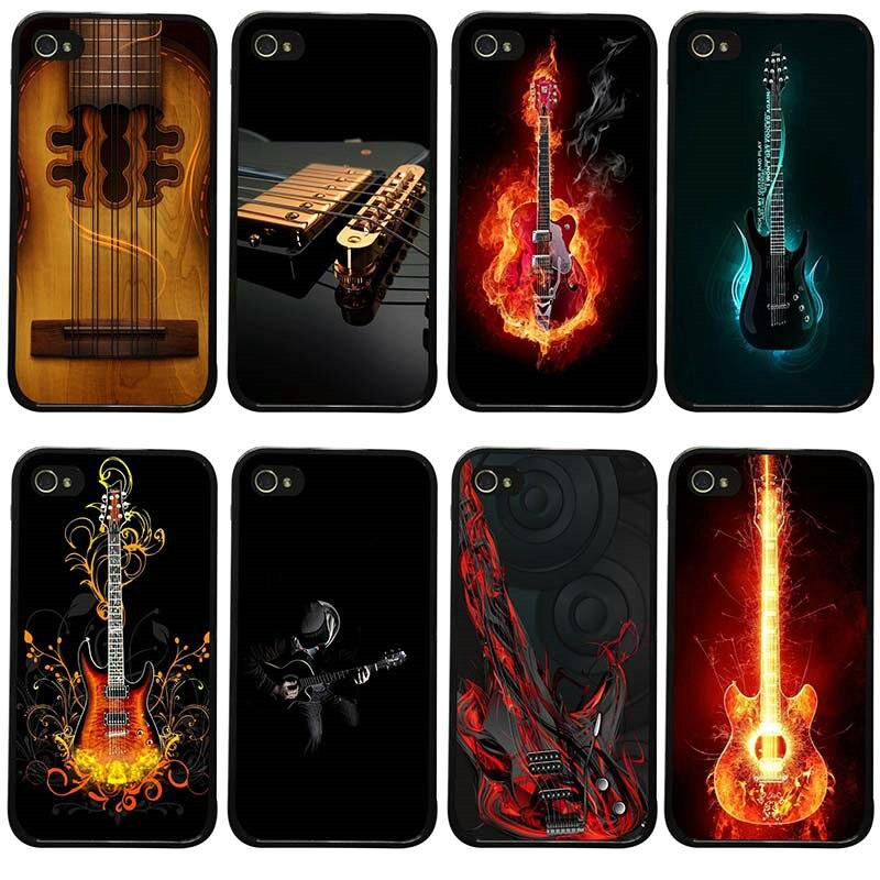 Baixo guitarra cordas de música guitarra instrumento casos de telefone celular capa dura para iphone 8 7 6s plus x xr xs 11 pro max 5S 5 se 4S
