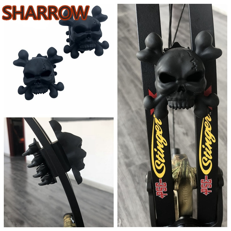 2Pc/Set Compound Bow Rubber Stabilizer Limb Damper Reduce Noise Vibration Shock Absorber For Outdoor Hunting Archery Accessories