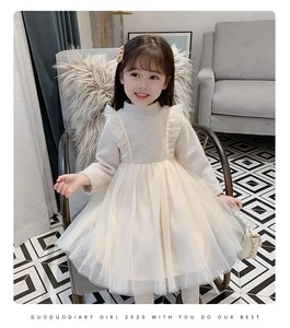 2020 new spring autumn/winter  Girls Kids Boys lace dress comfortable cute baby Clothes Children Clothing