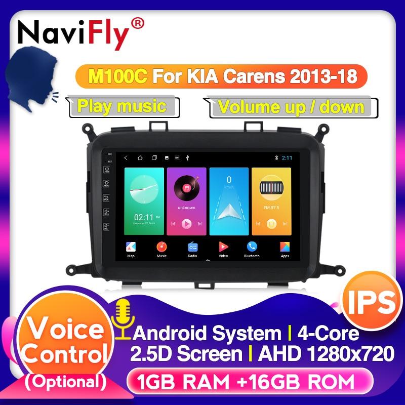 Navifly Android 10,0 para KIA Carens 2013-2018 9 pulgadas coche Radio reproductor de vídeo Multimedia GPS navegación vehículo navegación SIN DVD