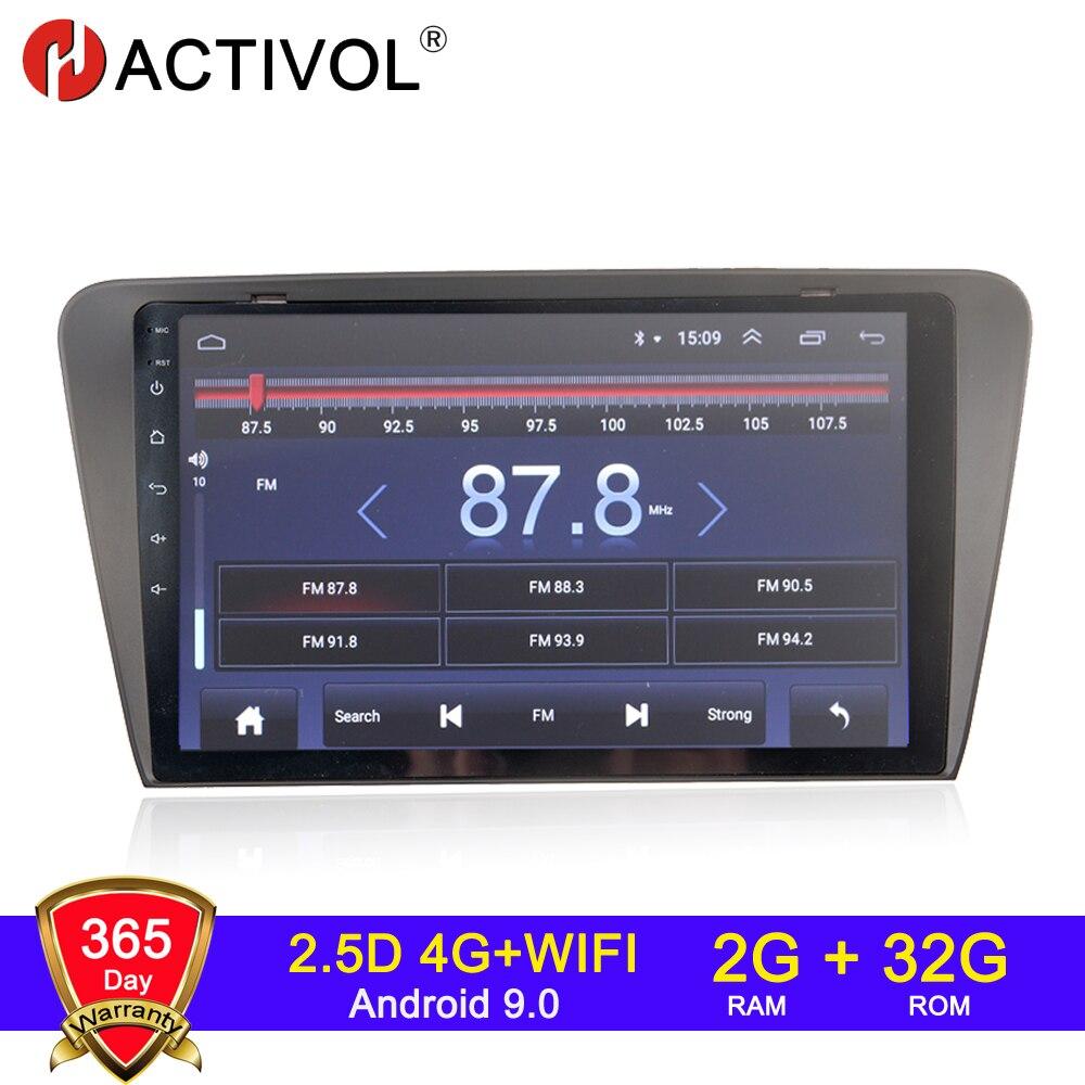 4G WIFI 2G 2 32G Android 9.0 din rádio do carro para SKODA OCTAVIA 2014-2018 autoradio магнитола автомагнитола áudio do carro de som do carro