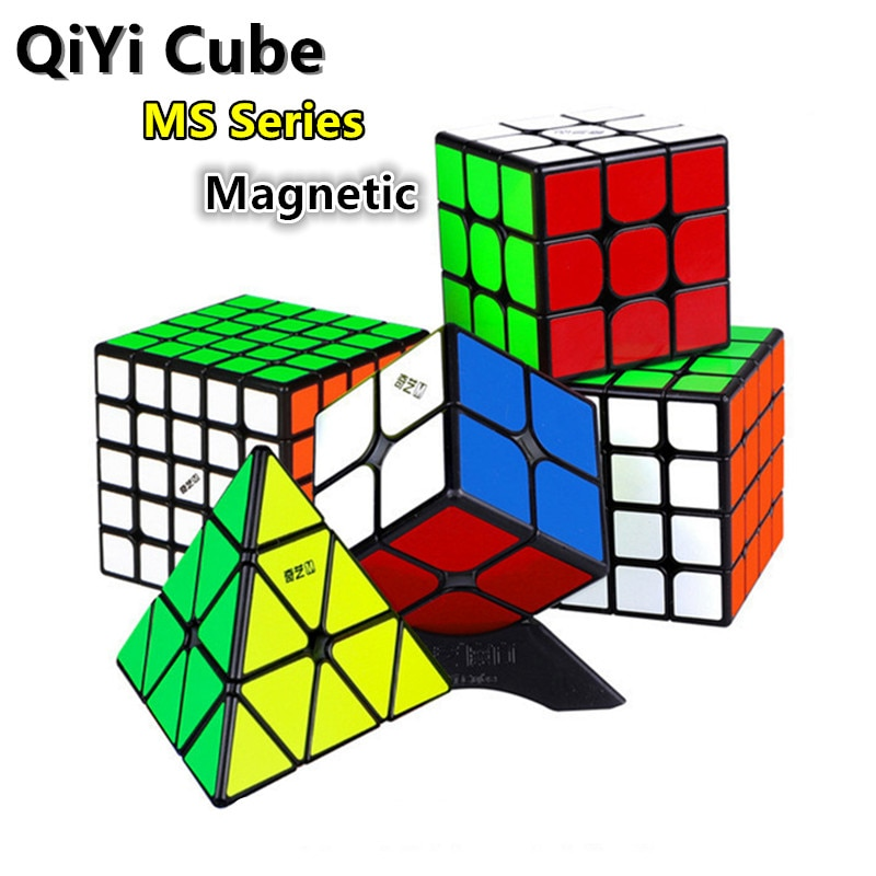 cubo magico magnetico qiyi ms series 3x3x3 piramide 4x4x4 quebra cabecas de imas