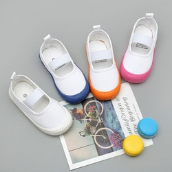 Crianças sapatos casuais crianças sapatos de lona crianças bebê menino menina sapatos meninos meninas tênis branco moda macio respirável novo