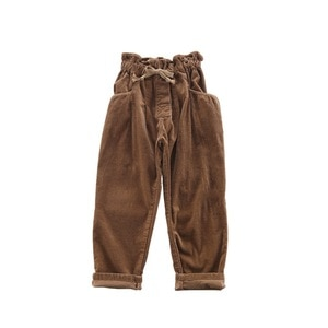 WLG Girls Coffee Pants Kids Spring Corduroy Pant Baby Girl Casual All Match Trousers for 4-12 Years Children Clothes