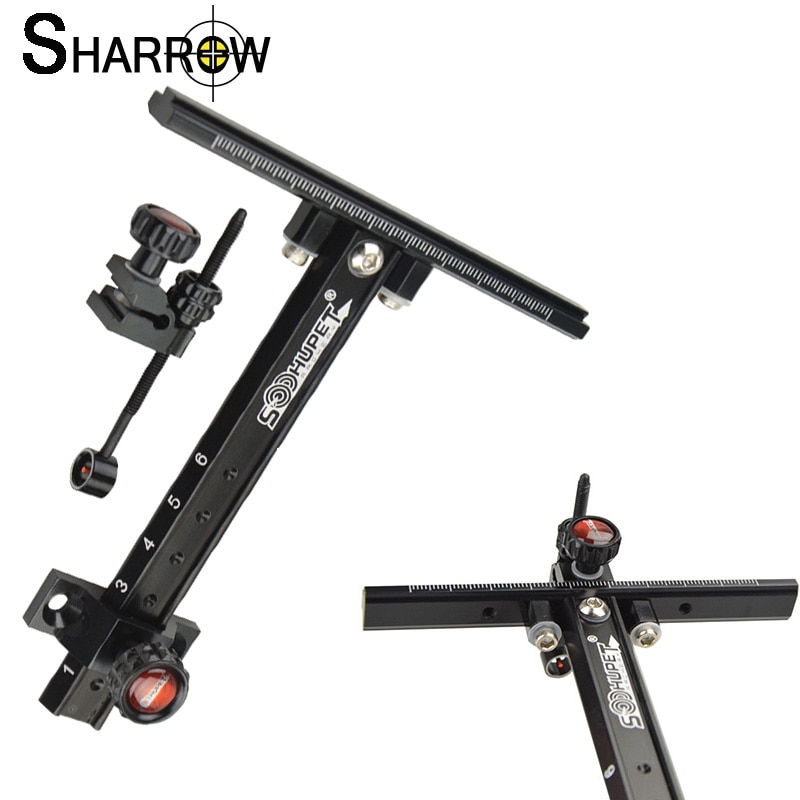 1pc 6inch Archery Aluminum Alloy Recurve Bow Sight RH/LH For Aiming Tool Outdoor Adjust Shooting Hunting Accessories