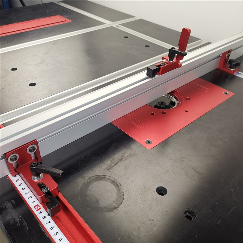 35/45 T-track Slot Connector Sliding Brackets (Red Serie) Chute Woodworking Machinery Part Module T Track T-stop Aluminium 5.0