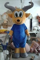 goat mascot costume sheep cosplay clothes halloween fancy dress ball set cartoon doll costume childrens friends