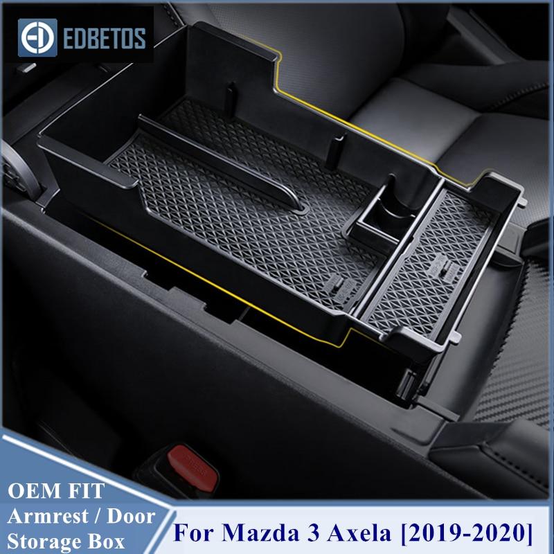 Перчаточный ящик для хранения подлокотников для Mazda 3 4th, 2019, 2020, органайзер для центральной консоли, лоток для салона Mazda, аксессуары для вторичного хранения