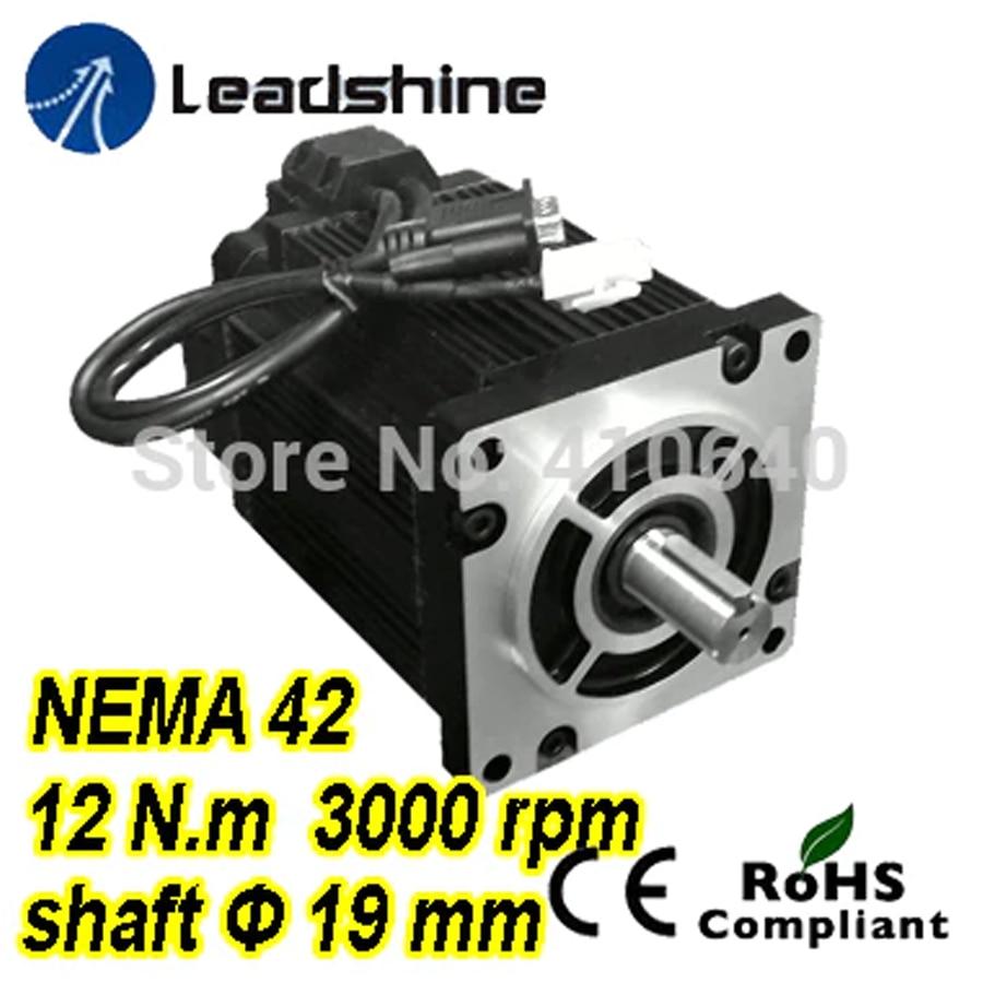 Free shipping! Leadshine Easy Servo Motor (Closed Loop Stepper) 3 phase 1103HBM120H-1000 with 220/230VAC 12 NM 1000 line encoder